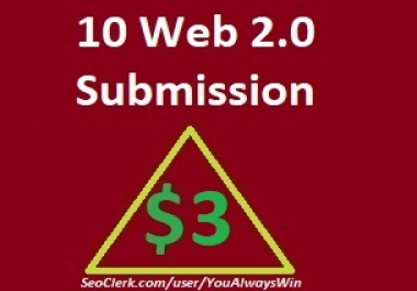 10 web 2.0 submission and rank higher on search engines