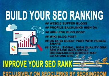 Build Your SEO Ranking With My High Authority Backlinks Pakages
