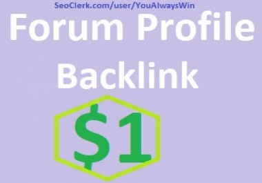 300+ HQ forum profile backlinks