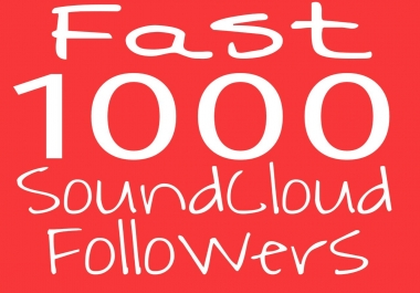 Real 1000-1500+ SoundCloud Followers Just