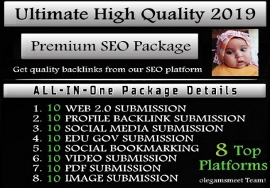 All In One Exclusive Premium SEO Package To Get High Quality Backlinks