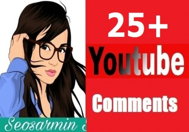 Safe 25+ Youtube Custom comment's Non Drop Guaranteed And Instant 6-8 Hours completed Just
