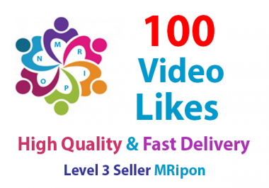 Get Instant 100 High Quality Social Video Likes Promotion