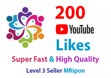 Get Instant 200 High Quality YouTube Video Likes