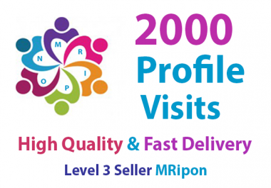 Get Instant 2000 High Quality Social Profile Visits