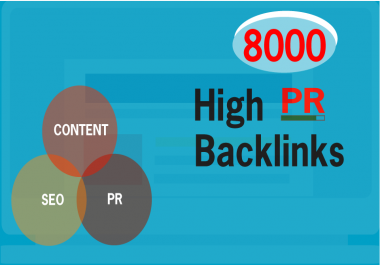 Build 8000 PR Live Mix Contextual Backlinks For SEO