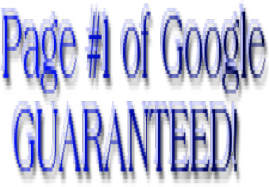 Guarantee Page 1 Rankings in Search Engines!
