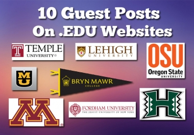 I Can Publish Your Guest Post on 10 EDU Websites (Dofollow)