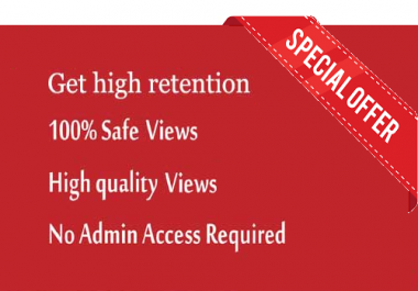 1000 High Retention Drip Feed Views from Worldwide
