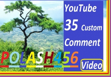 YouTube 30 Custom Comment And 10 Likes Add Video In, Give You. So If You Need To Please Order And Contact Me