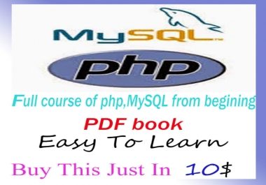 Give You A Full Course Of Php,Mysql