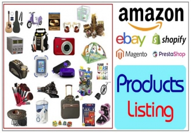 I will create Your Products List Within 24 Hours