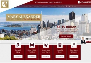 law firm website responsive, SEO friendly