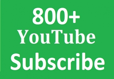 Safe 700+ Youtube Subs-criber Non Drop Refill Guaranteed  and instant start work just