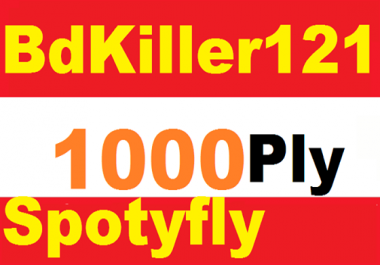 Add super fast 1000 spotifly Followers 1-24 hours delivery