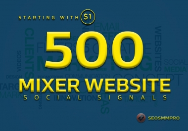 boost your website with 500+ POWERFUL Social Signals from only HIGH PR Backlink Websites