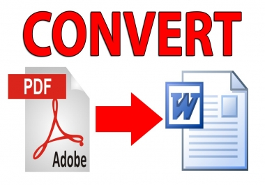PDF to WORD convertion