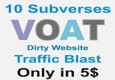 Dirty Website Massive Traffic Blast on Voat post in 10 subverses