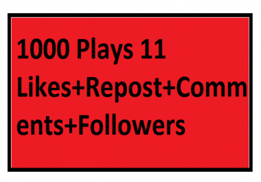 All In All Manual Music Promotion 1000 Plays 11 Likes+Repost+Comments+Followers