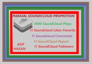 Real Manual SoundCloud Promotion