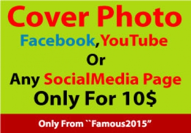 Get Cover Photo Design For your Any social Media page within 24 hours