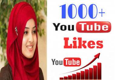 Guaranteed high quality  1000/1k You Tube likes NON -DROP very fast delivery in 2-8 hours just complete