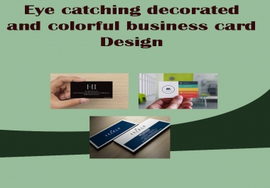 Eye catching, decorated and colorful business card Design