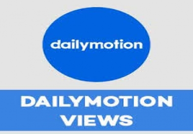 Add discount 1,000,000 Dailymotion Views 100/100 Works