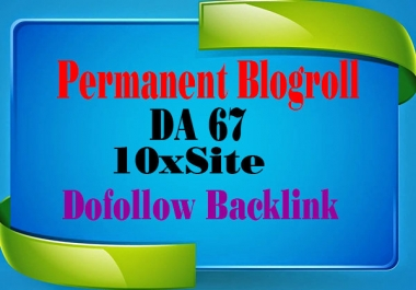 provide backlink blogroll 10x DA:67 PA:48 with Difeferent IP