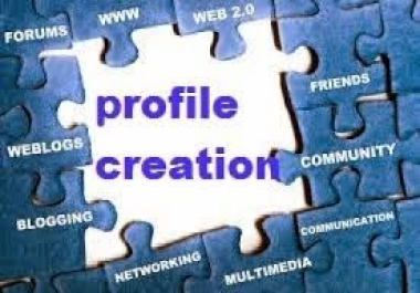 Can Do 40 High Quality Profile Creation Backlinks