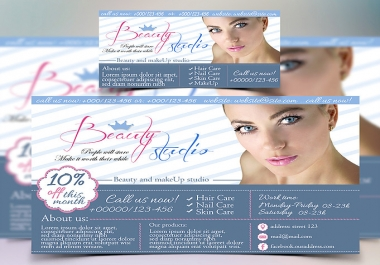 Free business card + Banner - I will add your text here