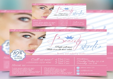 Great OFFER - Free Business card. Beautiful Web Banner
