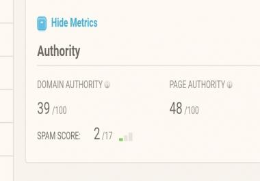 Backlink on 39DA 48PA WordPress niche blog