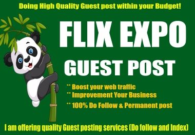 Guest post on Flix Expo with Quality Content Marketing
