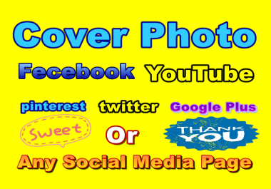 Catch Cover Photo Design For your any social Media page in 24 hours