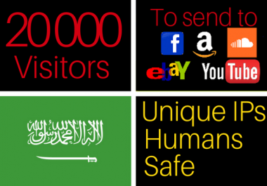drive 20k traffic visitors from Arabic/Middle east to your website