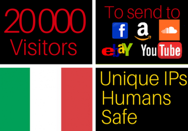 will drive 20k visitors from italy to your website, italian traffic