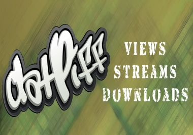 Get 1000 views 600 streams 6 downloads Datpiff