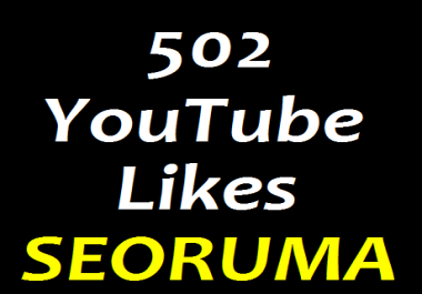 I provide 502+ YouTube video Likes  in 7-9 hours completed just