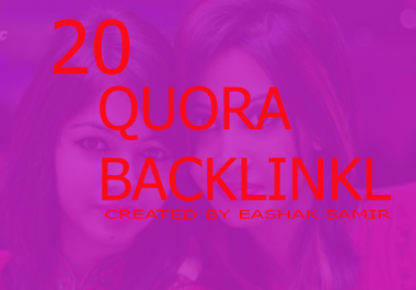 Kill your Competitors and rank 01 all search enjeen first page with 20 HQ quora answer backlink