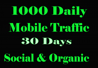 Get 1000 Daily Traffic for 30 Days