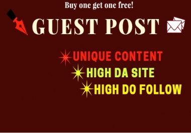 Unique quality guest post on popular sites.