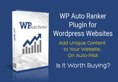 Download WP Auto Ranker: 100% Original Content Creator Plugin For Wordpress