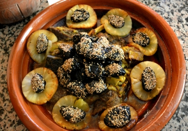 l teach you how to cook Moroccan tajine with meat and plum