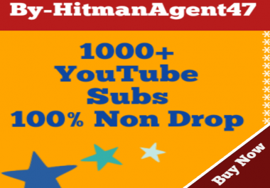 Real 1000+YouTube Channel Subs Criber 100% Non Drop