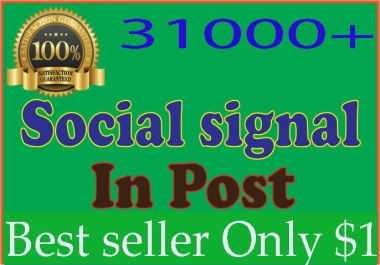 build 3,100 Quality Social Signals from top 5 social sites for ranking your URL