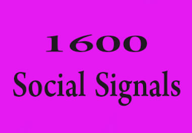 build 1,600 Quality Social Signals from top 5 social sites for ranking your URL
