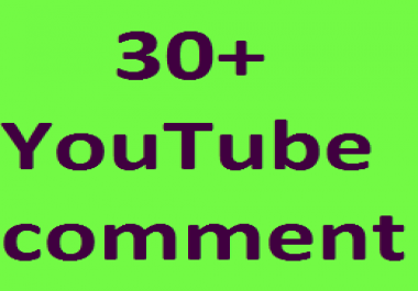 Real 30+YouTube Custom comments OR 150+YT Likes OR 50+YT Channel subscribers non drop