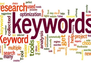 I will do indepth keyword research and provide the best keywords for your niche or site