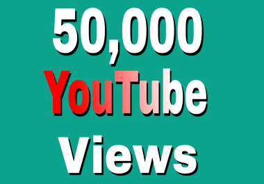 Safe 50,000+High Retention YouTube Views+2,00 Extra Likes just